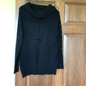 Maison Jules black cowl neck sweater